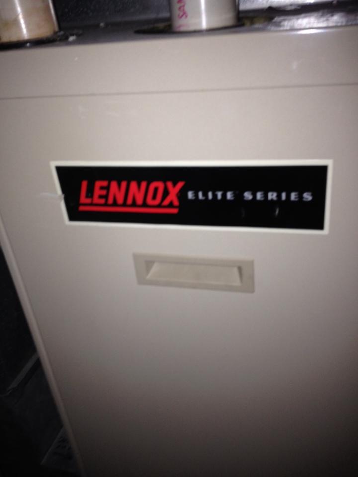 Bloomington, MN - Tune up on a Lennox furnace.