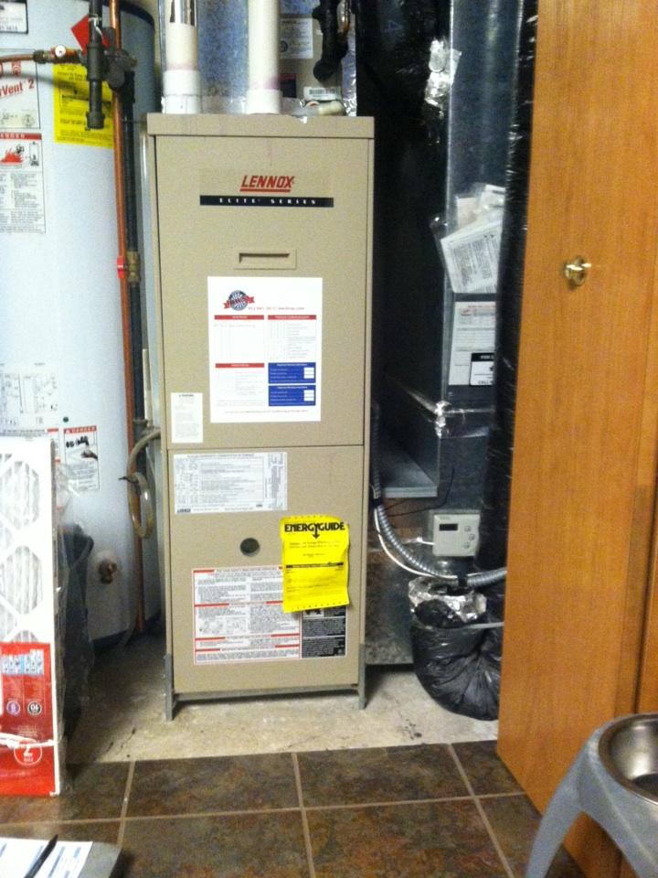Chaska, MN - Heating tuneup on a Lennox furnace