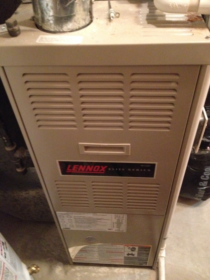 Champlin, MN - Tune up on a Lennox furnace.  Replaced blower starter