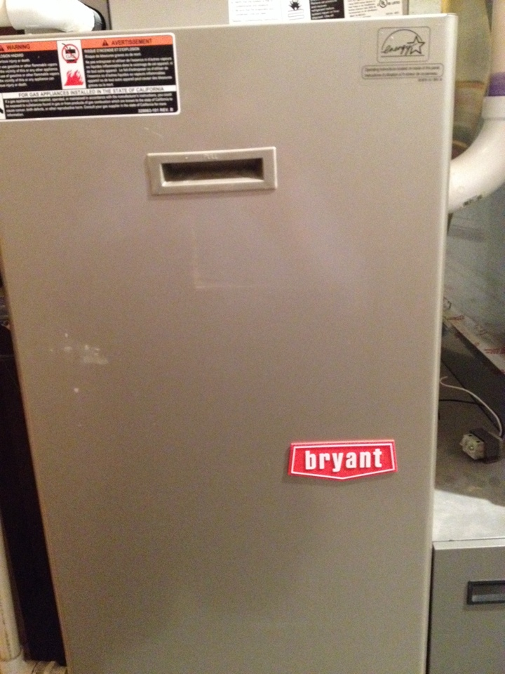 Maple Grove, MN - Tune up on a Bryant furnace, and service on an Aprilaire humidifier.