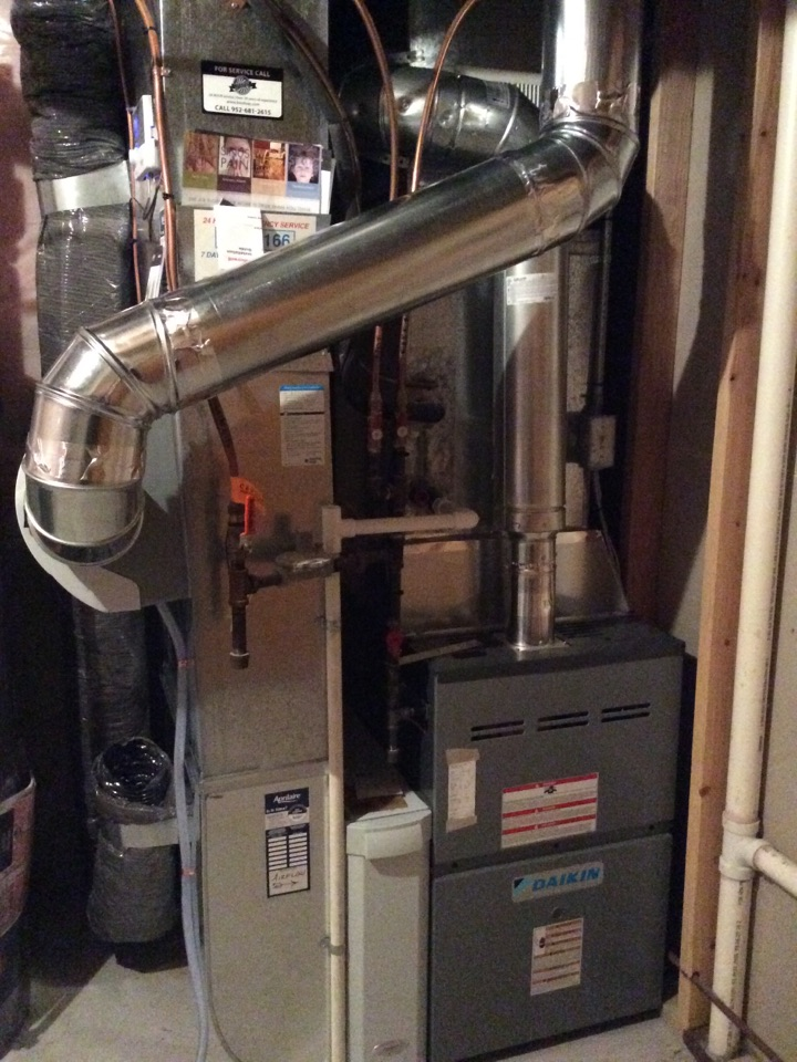New furnace and humidifier install.