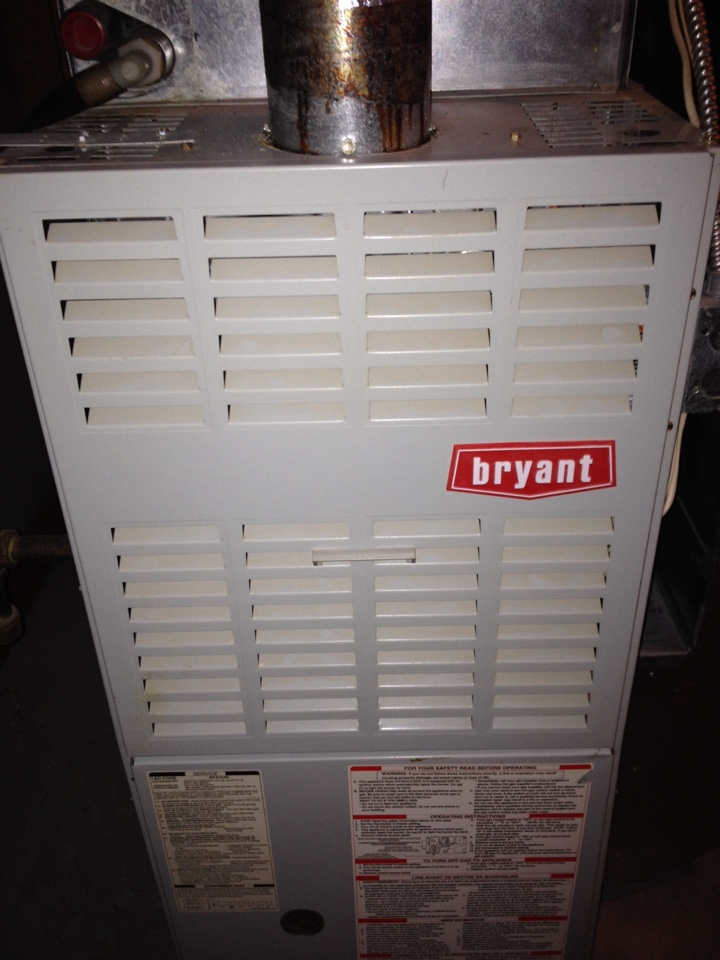 Elk River, MN - Service on a Bryant furnace.