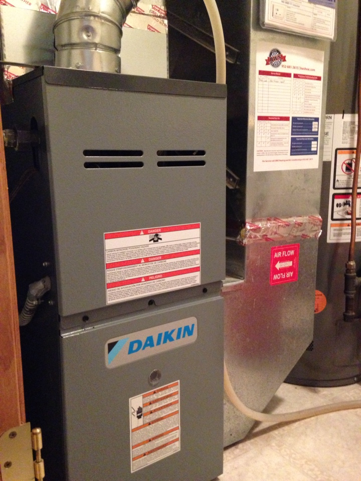 Woodbury, MN - New Daikin furnace install.