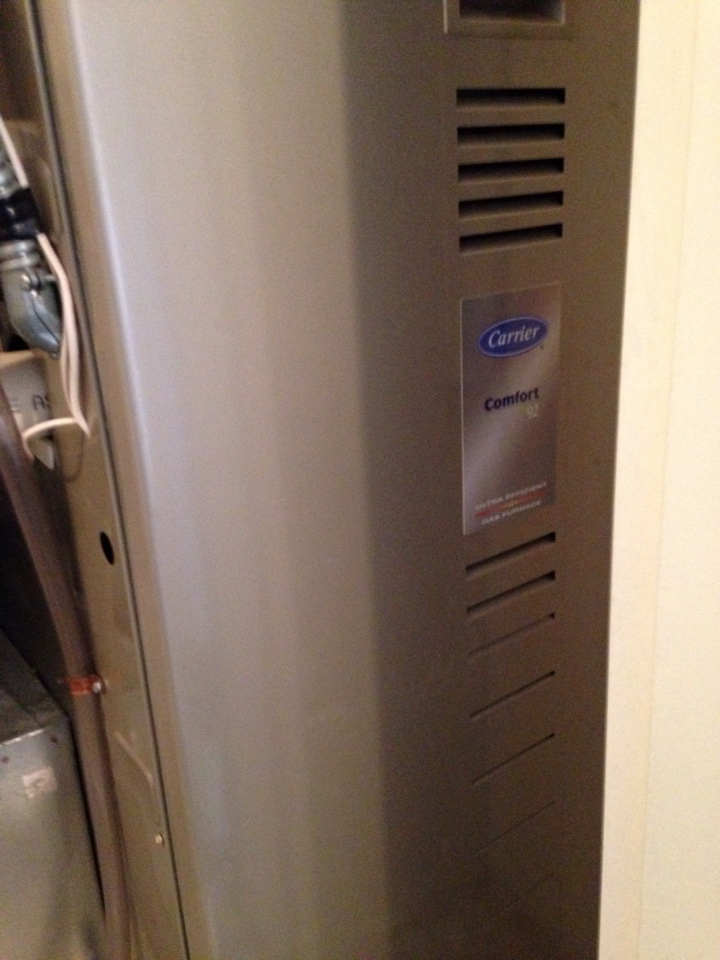 Blaine, MN - Tune up on a Carrier furnace.  Replaced blower starter.