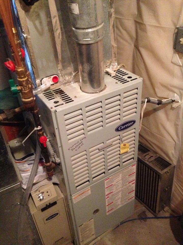 Shakopee, MN - Carrier furnace fall heating tune up