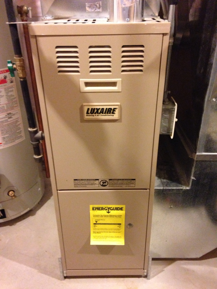 Otsego, MN - Tune up on a Luxaire furnace.