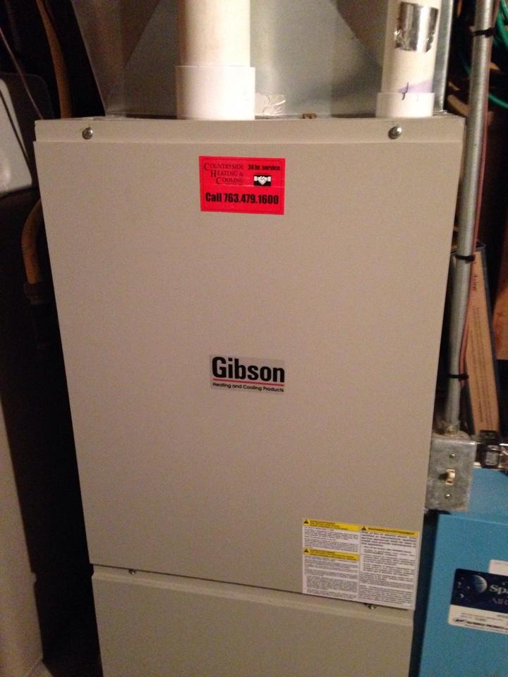 Wayzata, MN - Tune up on a Gibson furnace.