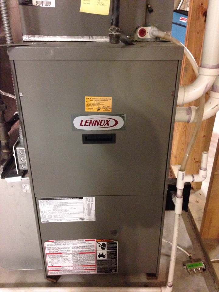 Woodbury, MN - Performed Heating Maintenance, Safety Check and Tune up on a Lennox furnace.
