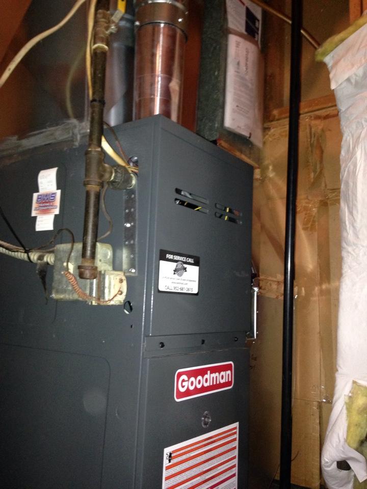 Savage, MN - Goodman Standard Efficiency Furnace install