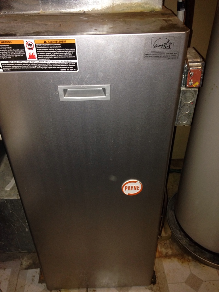 Shoreview, MN - Tune up on a Payne furnace, replaced blower starter, and flame sensor.