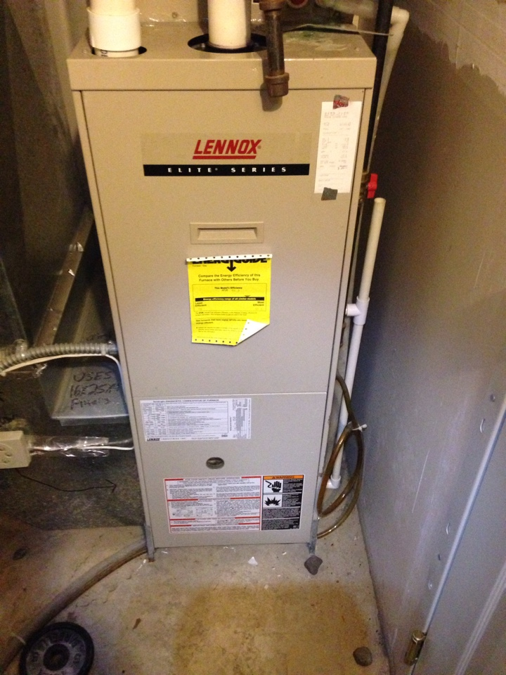 Lakeville, MN - Tuneup on a Lennox Elite Series 90% efficient furnace.