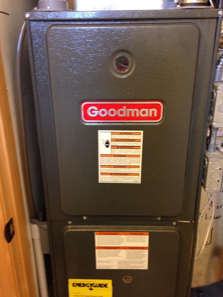 Chaska, MN - Service on a Goodman furnace.