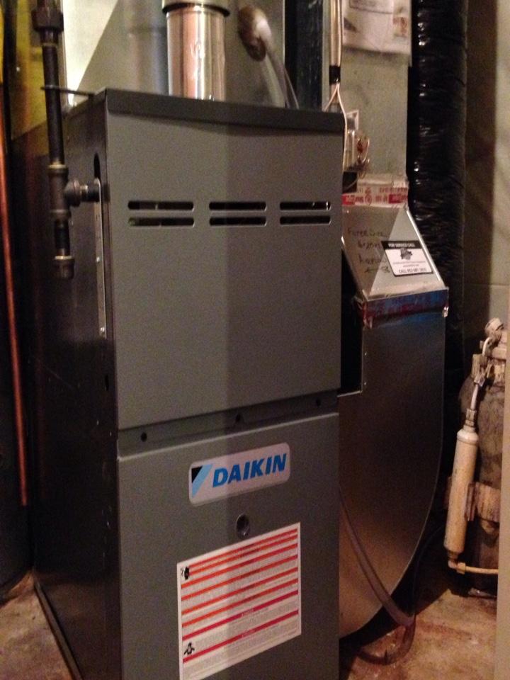Ham Lake, MN - New Daikin furnace and AC install.
