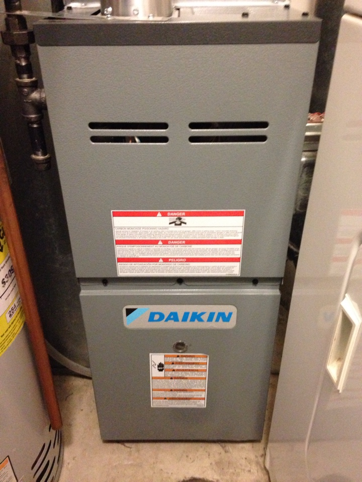 Inver Grove Heights, MN - Fall maintenance on a Daikin furnace.