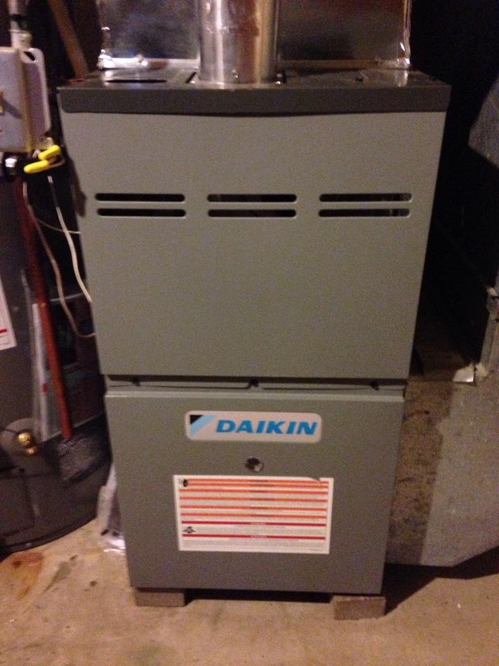 Anoka, MN - Installing a Daikin furnace