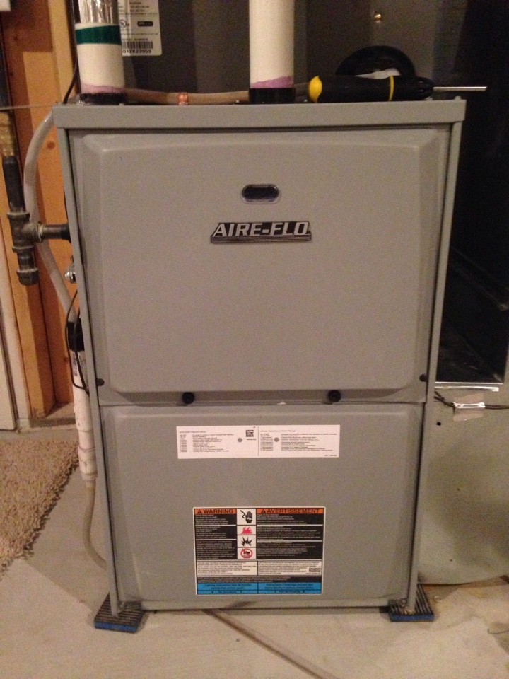Savage, MN - Maintenance on an Aire-Flo furnace.