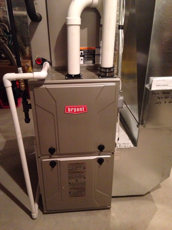 Coon Rapids, MN - Service on a Bryant furnace.