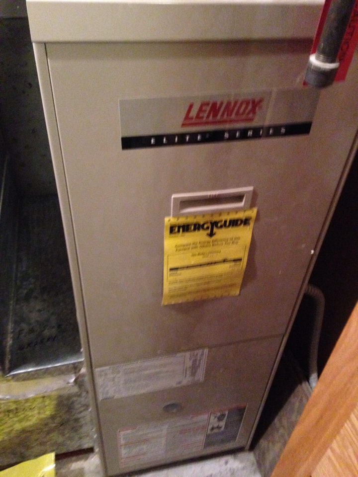 Chanhassen, MN - Heating tuneup on a Lennox 90% efficient furnace.