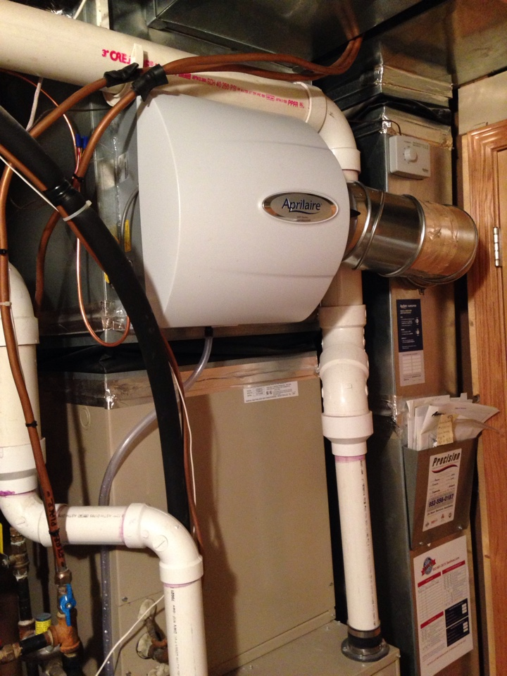 Chaska, MN - Installed new AprilAire 600 humidifier.