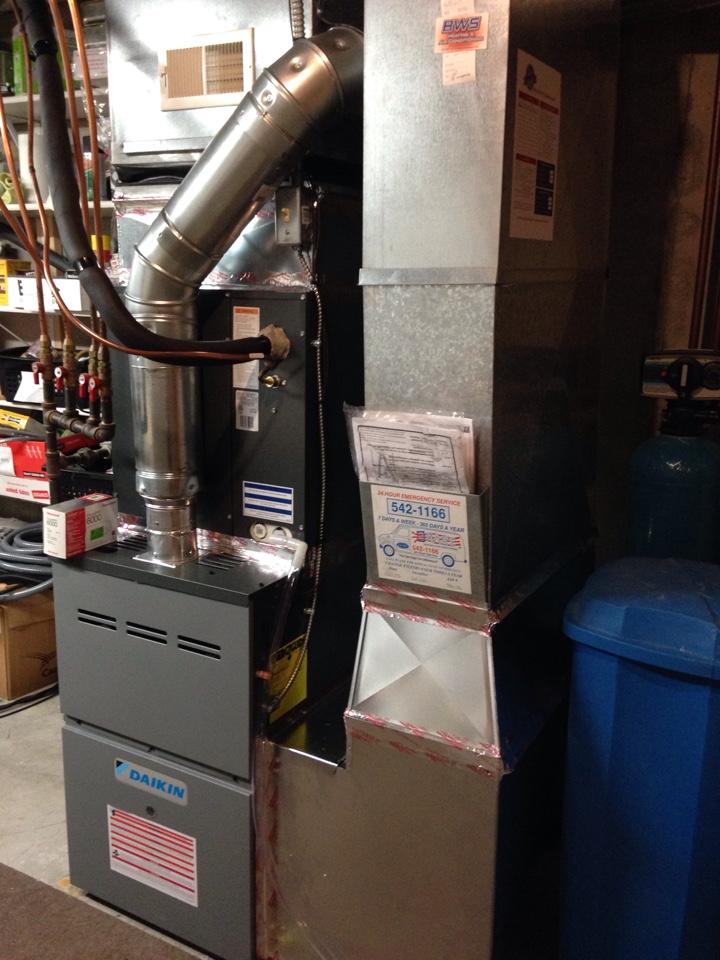 New Daikin furnace and AC.