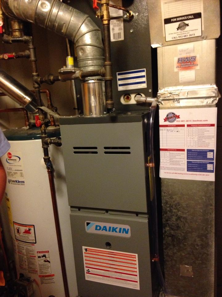 Savage, MN - New Daikin furnace and AC