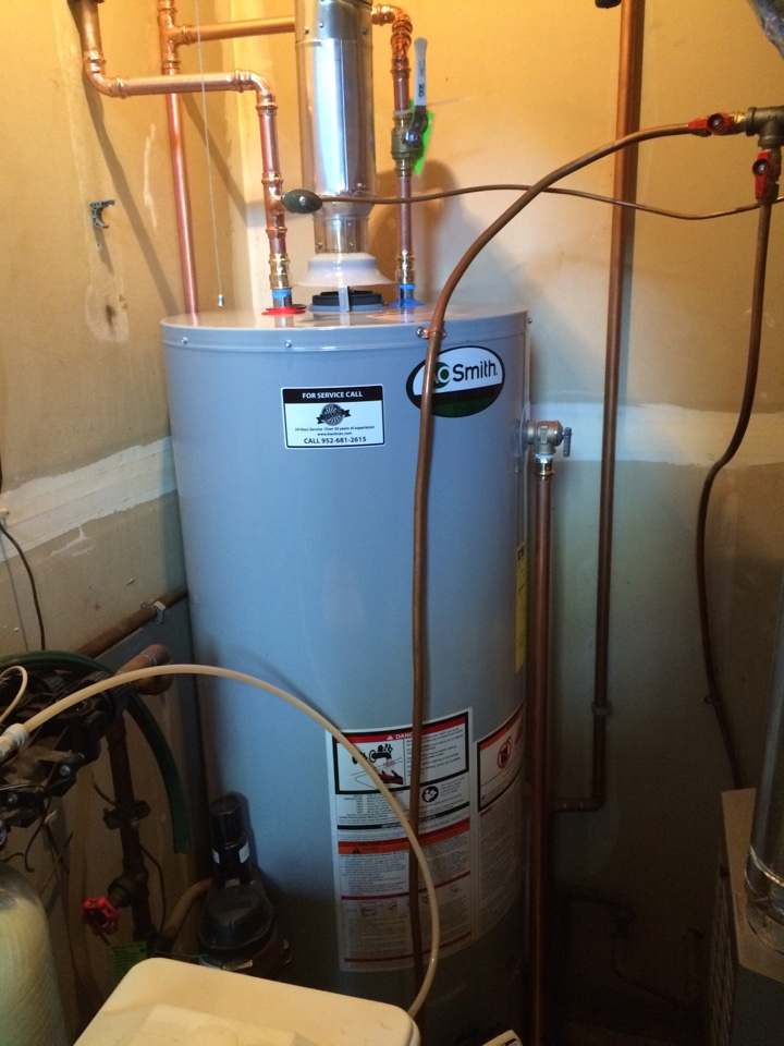 Hopkins, MN - Replacing 40 gallon water heater with a 50 gallon ao smith water heater