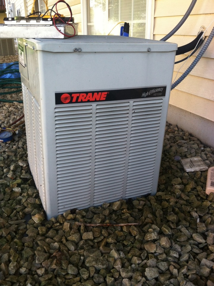 Air conditioner repair call on a Trane a/c