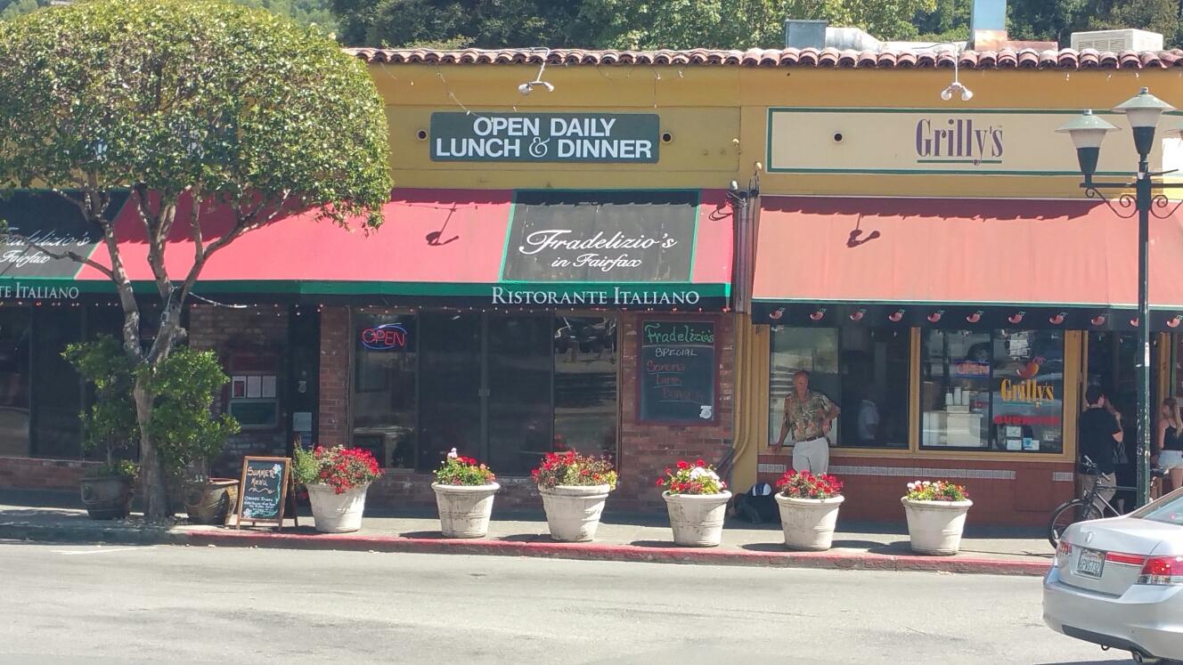 Fairfax, CA - Reroof at Fradelizio's Italian restaurant in Fairfax