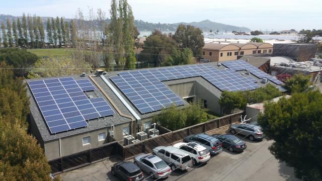 Sausalito, CA - Commercial roof and solar performed by roofing contractor Northern Pacific Roofing in Sausalito