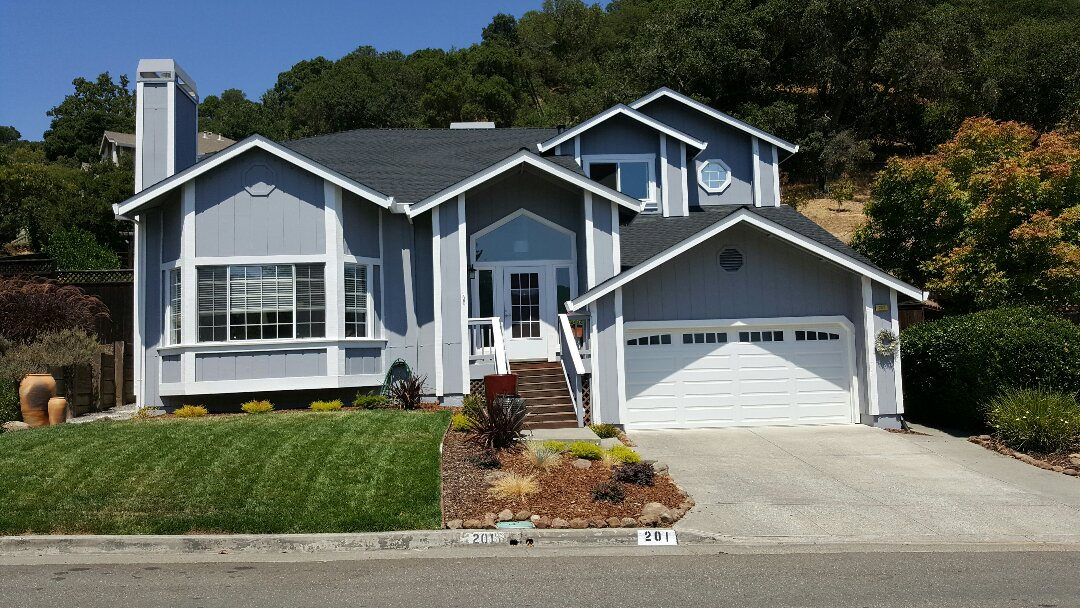 Novato, CA - New GAF HD composition roof system located in Novato. Color charcoal