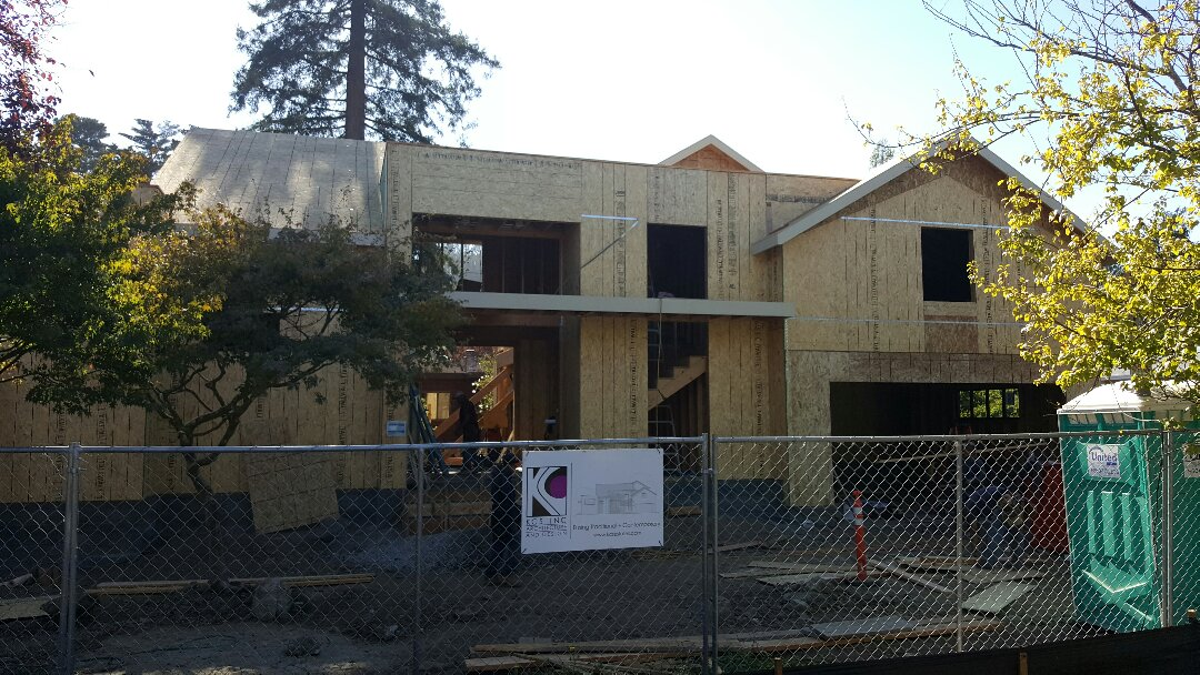 Mill Valley, CA - In progress new custom home on Ethyl Ave in Mill Valley.  GAF HD Timberline roof coming soon!