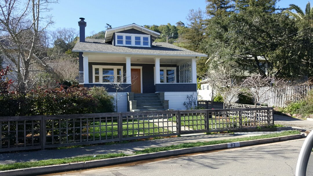 San Anselmo, CA - Remodled craftsman home on Elm Avenue in San Anselmo GAF  HD Timberline composition shingles color.Slate.
