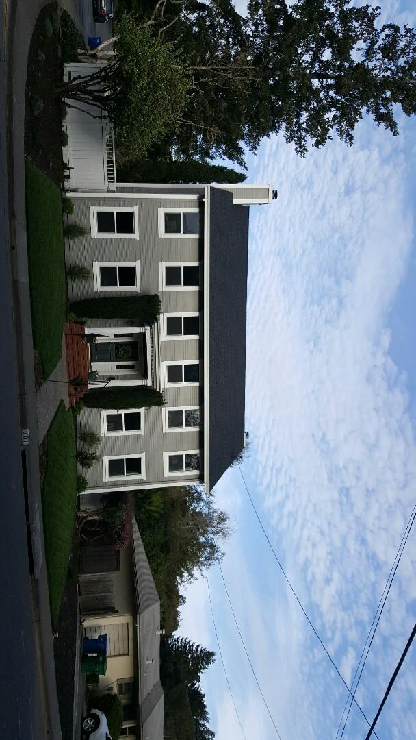Petaluma, CA - New GAF Timberline HD charcoal roof