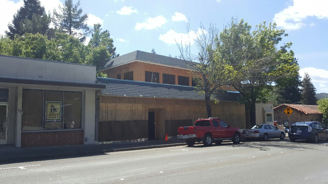 San Anselmo, CA - New GAF HD Timberline composition shingles on Master Kim's Martial Arts Studio in San Anselmo.