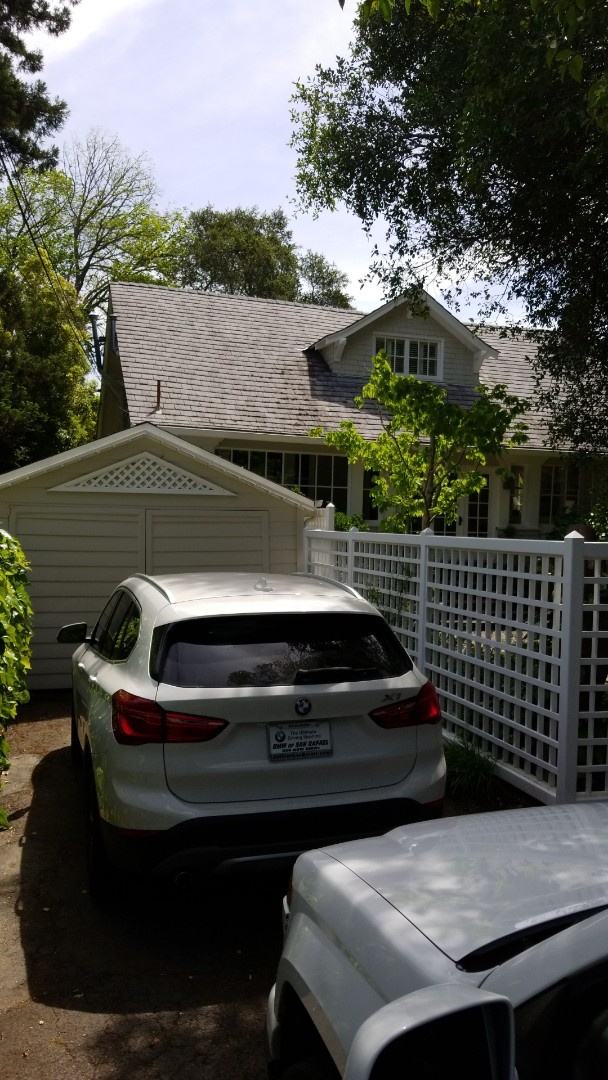 San Rafael, CA -  looking to replace this old slate composite roof that's deteriorating