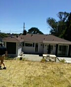 San Rafael, CA - System plus roofing system Color Hickory back side of house