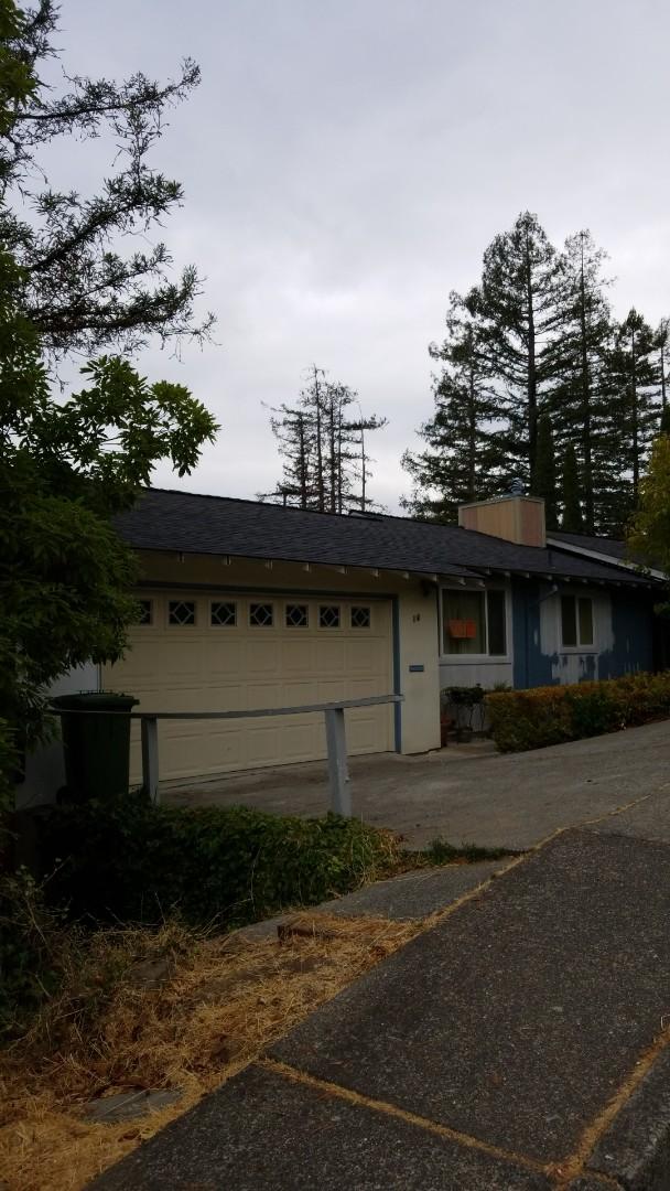 San Rafael, CA - New Malarkey Vista polymer shingle with nexgen technology 10in easy Ridge heavy duty rebuilt chimney box paint job to follow