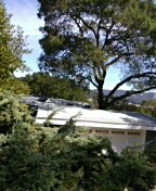 """San Rafael, CA - New Roof Modified Bitumen 2"""" iso insulation white in color with granules at seams"""