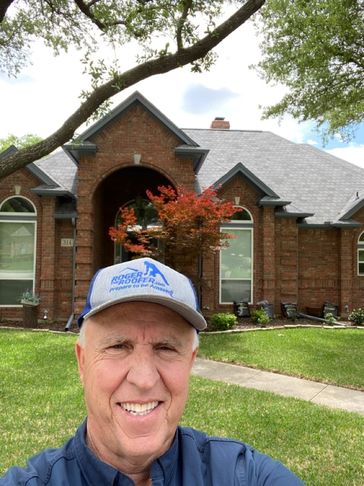 Southlake, TX - Referral, 14-year-old roof about to be converted by the insurance company to an ACV policy currently it's an RCV policy… Roof damage gutters etc. got a love the roofing business