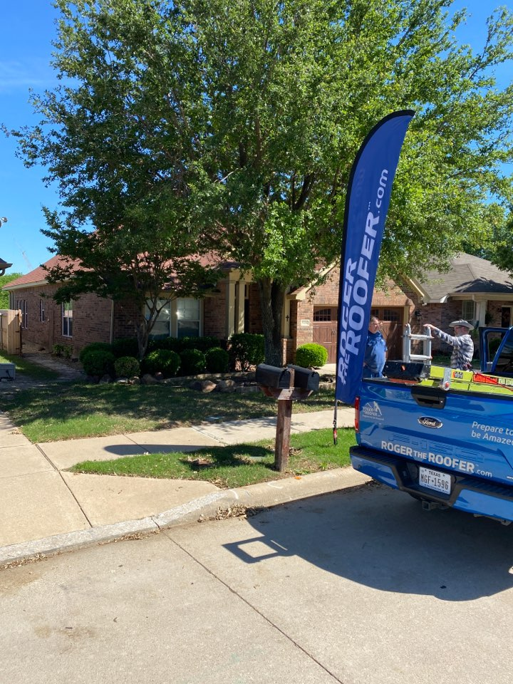 Fort Worth, TX - Just got this roof approved, customers talking to the adjuster, we're getting new windows new screens facia boards new roof gutters and some personal property