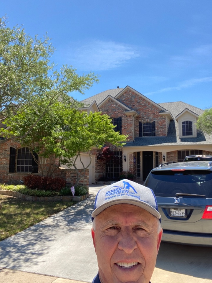 Keller, TX - I told his customer that his roof was as clean as a whistle, he seem to be very disappointed that there wasn't enough damage he said he heard some loud hail however you have to have a certain amount of hits in a 10' x 10' square or the insurance company won't approve it and in this example it's better to wait for the next storm… Got a love the roofing business
