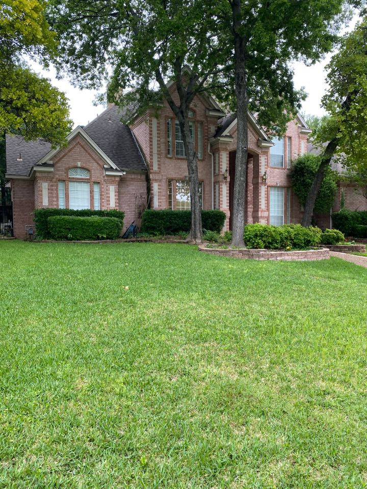Southlake, TX - Got a call to replace the skies turbine… They actually blew off… Found lots of hail damage… This roof is 17 years old we filed a claim with USAA for wind and hail damage