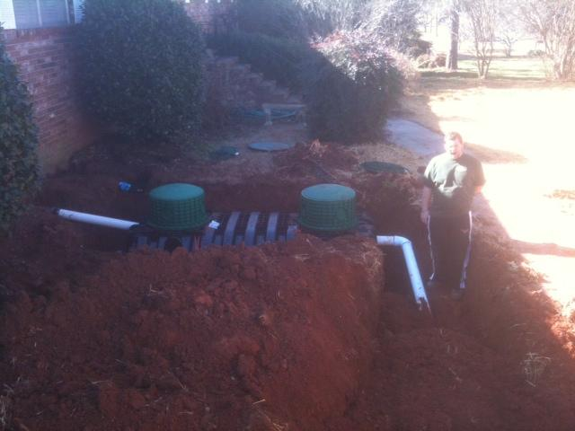 Marietta, GA - Installed new septic tank and field lines