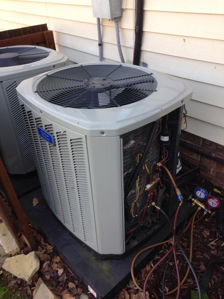 Rogersville, AL - No heat call, service call on American Standard split heat pump