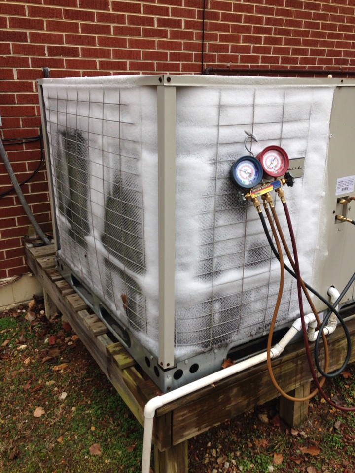 Saint Joseph, TN - No heat call, unit freezing up on Frigidaire Package heat pump