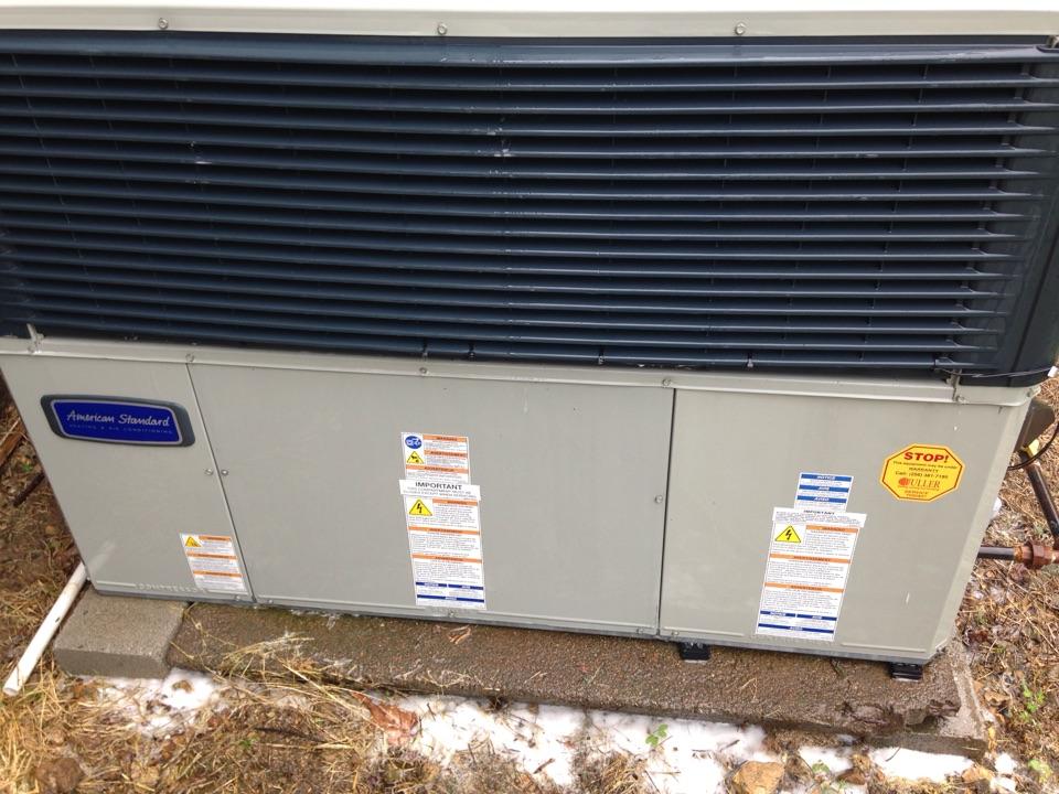 Rogersville, AL - Performing maintenance on an American Standard Package Dual Fuel.