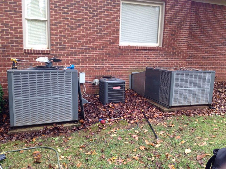 Moulton, AL - Fall maintenance on three unit goodman and Amana