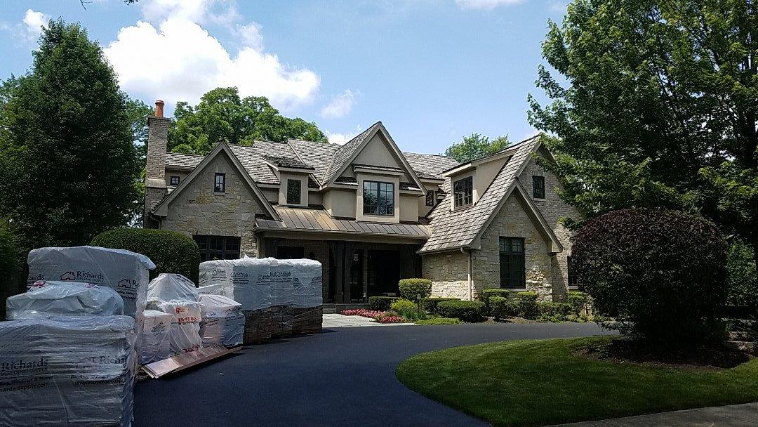 Highland Park, IL - New cedar roof and oversize gutter