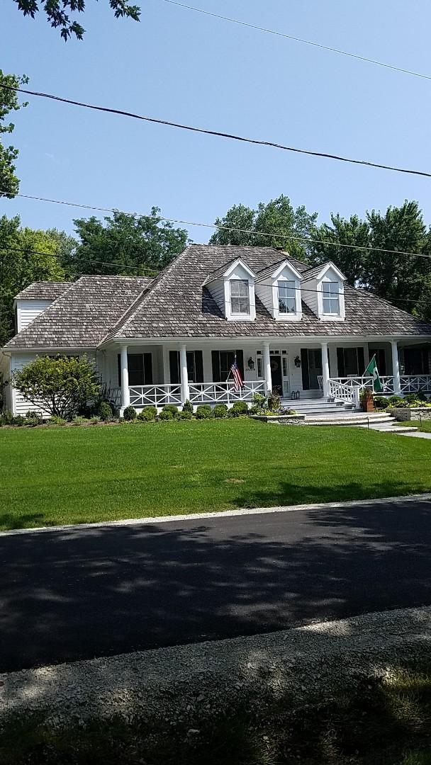 Glen Ellyn, IL - New cedar roof and oversize gutter