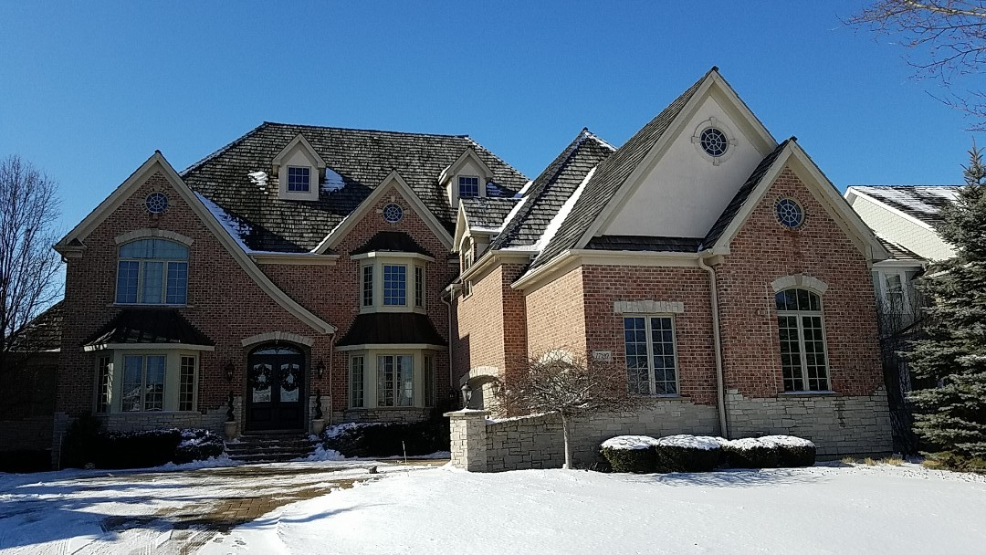 Vernon Hills, IL - Copper roof over bay at front